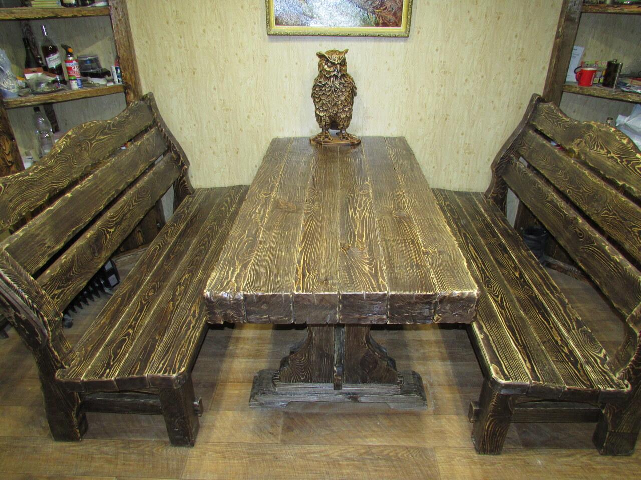 Как сделать стол из дерева под старину своими руками
