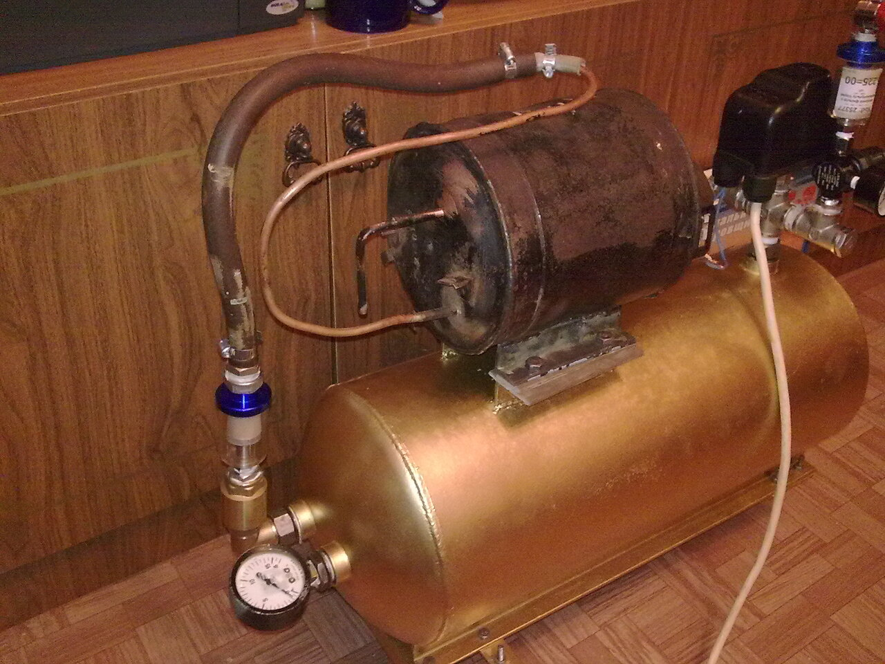 Воздушный компрессор своими руками из компрессора кондиционера