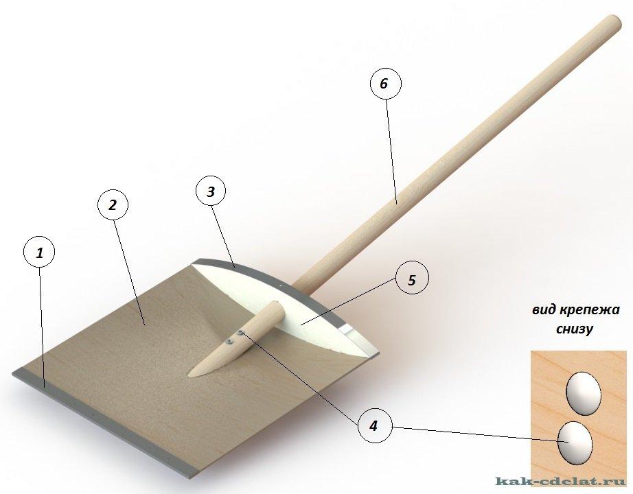 Как сделать лопату для снега своими руками из фанеры