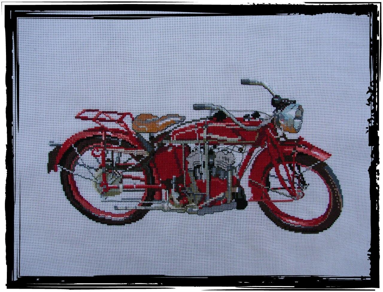 Вышивки крестиком мотоциклы