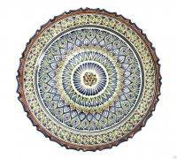 Тарелка с рифленым краем узбекская купить