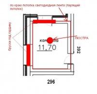 комната потолок