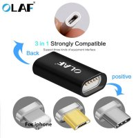 Micro-USB-To-Type-C-Lighting-Magnetic-Adapter-For-iPhone-Android-3in1-Data-Cable-Converter-Adapter
