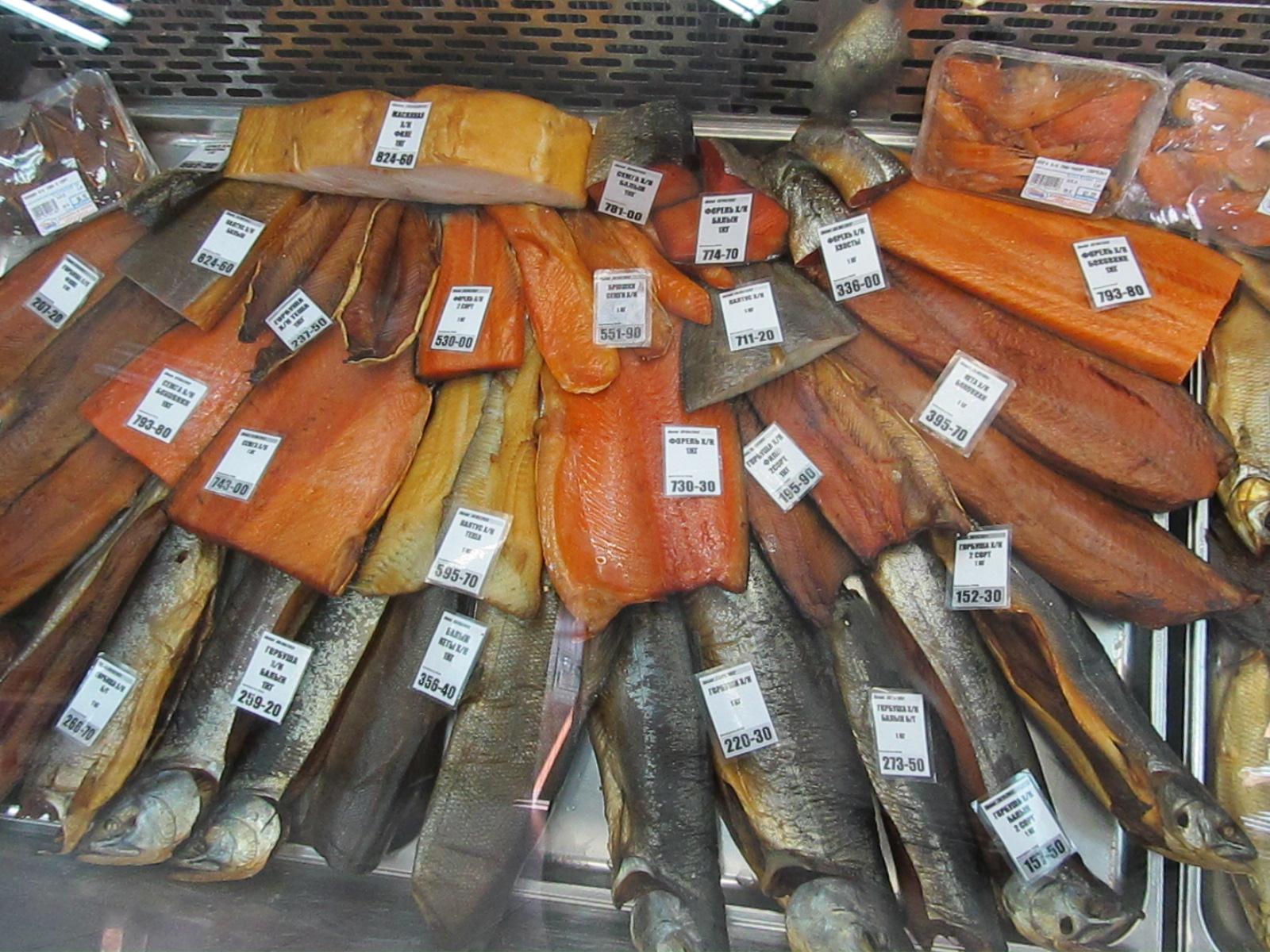 выкладка копченой рыбы в магазине фото познакомились, снимаясь фильме