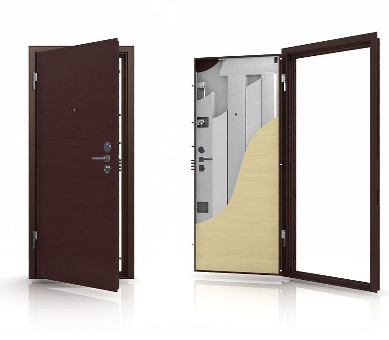 двери металлические распашные котельники
